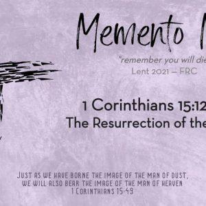 1 Cor. 15:12-34 | The Resurrection of the Dead