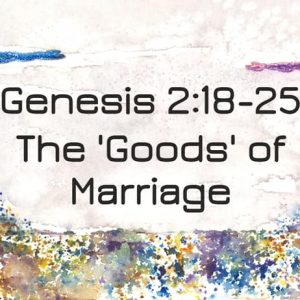 Relationships by God's Design – Marriage Part 2 [Genesis 2:18-25]